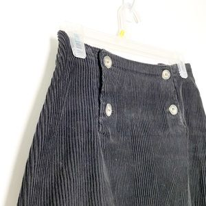 Vintage Black Corduroy A Line Mini Skirt